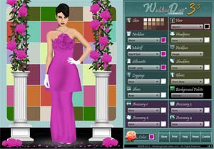Wedding Dress Creator Interface Screenshot